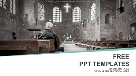 man praying  church powerpoint templates