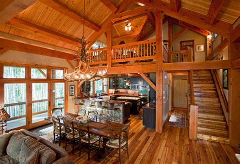 what is the height of a kitchen island timber frame in the mountains рустика столовая 9941