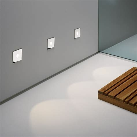 astro led recessed wall light polished chrome lighting direct