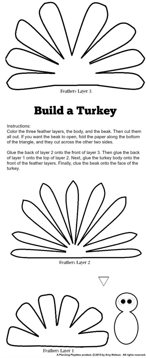 Turkey Template For Box Tops by Cute Turkey Craft W Free Printable Template Planning