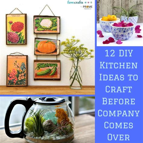 craft ideas for kitchen 12 diy kitchen ideas to craft before company comes