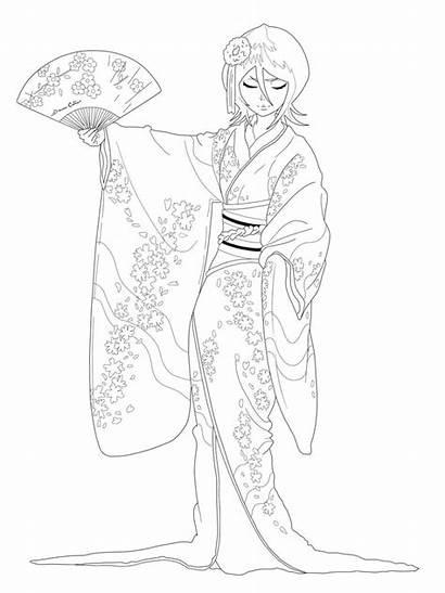 Coloriage Dessin Coloring Kimono Imprimer Deviantart Dance