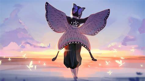 demon slayer butterfly girl walk  hd wallpapers hd