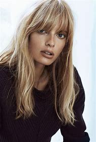 Brown and Blonde Hair with Bangs