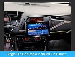 Joying 8 Inch Single Din Car Stereo Installed On Citroen