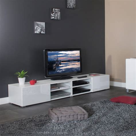 tele pour cuisine meuble tv design laqué blanc adélia ii meubles tv hifi