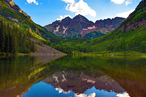 Maroon Bells Colorado Usa Wallpaper