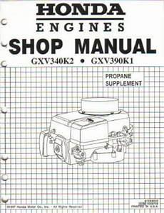 Honda Gxv340 Engine Shop Manual