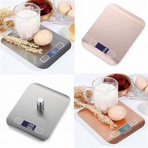 LED Digital Kitchen Scales 5KG/10KG Bench Scale Weight ...