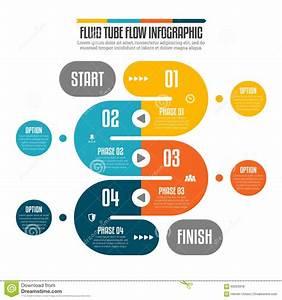 Fluid Tube Flow Infographic Stock Vector