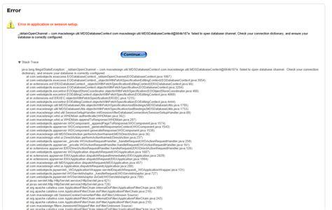 error displays after upgrading web help desk solarwinds