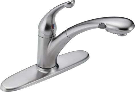 home depot delta kitchen faucet delta signature single handle pull out sprayer kitchen