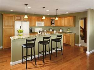 9, best, color, for, walls, in, kitchen, with, hickory, cabinets