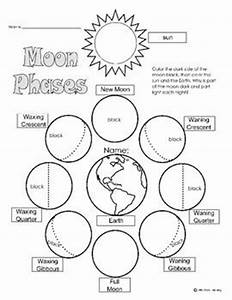 printable solar eclipse coloring page - moon phases worksheet mini book coloring sun and