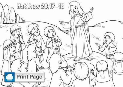 Coloring Commission Matthew Sheet Niv Printables Jesus