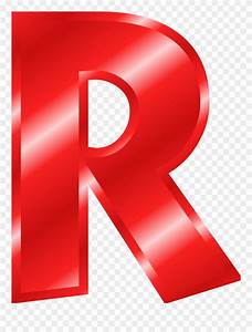 Red Letter R Transparent & PNG Clipart Free Download ...