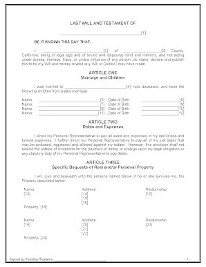 Last Will And Testament Template California by Bill Of Sale Form Colorado Last Will And Testament Form