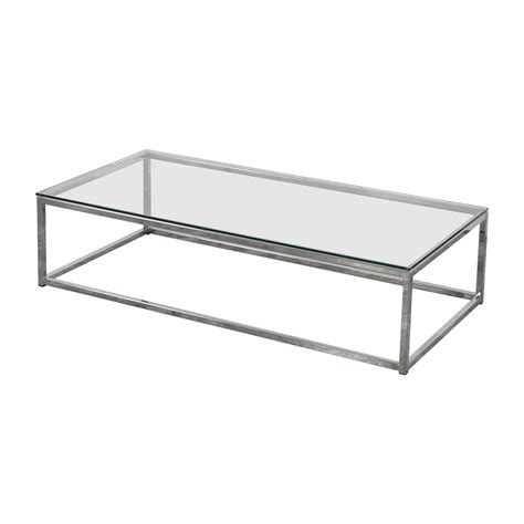 45% Off  Cb2 Cb2 Glass And Chrome Coffee Table Tables