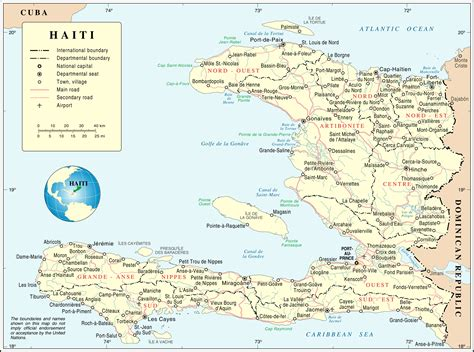 maps  haiti map library maps   world