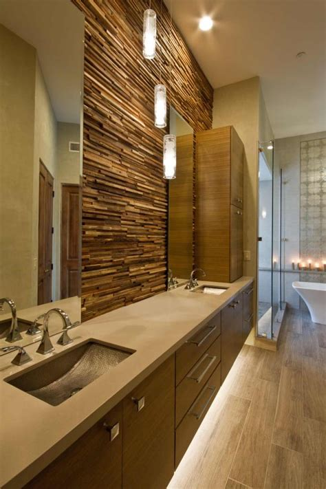 spa inspired master bathroom combines style