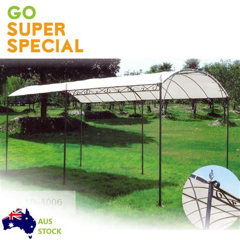 gazebo carport gazebo marquee carport shade shelter 3x4m 2 6m h steel