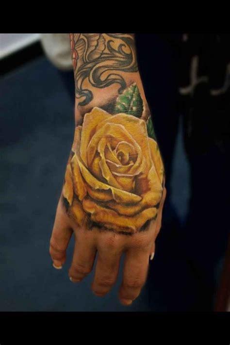 amazing arms yellow rose tatoojpg