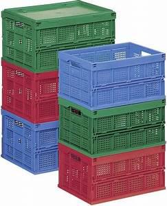 Klappbox Mit Deckel : klappbox l x b x h 600 x 400 x 320 mm rot 91020 1 st kaufen ~ Markanthonyermac.com Haus und Dekorationen