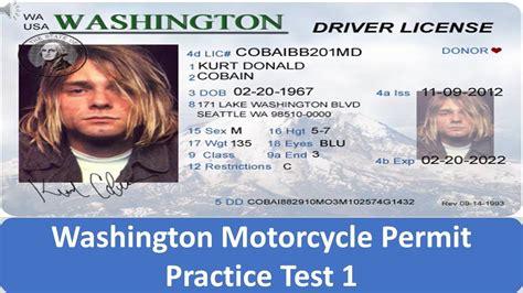 Washington Motorcycle Permit Practice Test 1 Youtube