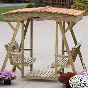 Amish Outdoor Swing & Roof:Wooden Swing Outdoor Glider