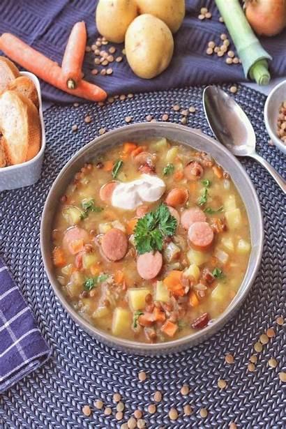 Recipes Zubereitet Einfach Linsensuppe Eating Klassische Schnell