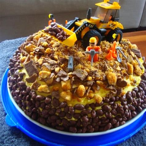 digger cake ideas  pinterest digger birthday