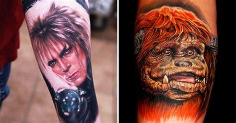tattoos celebrating  cult classic labyrinth tattoodo