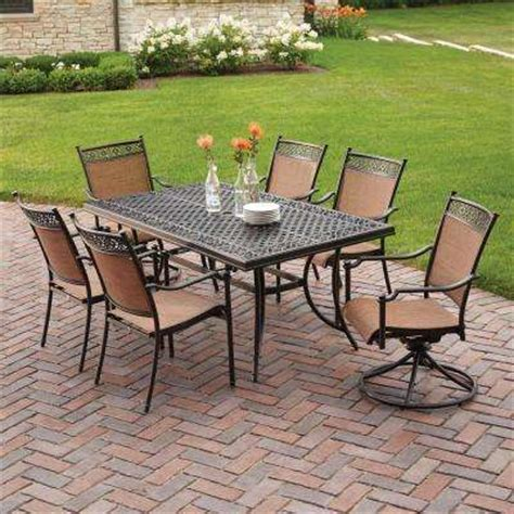 Cheap 6 Person Patio Set by Patio Cast Aluminum Patio Dining Sets Home Interior Design