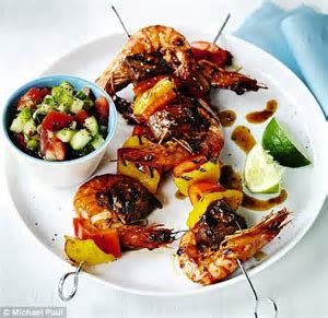 Recipe: Oriental style surf and turf skewers   Daily Mail