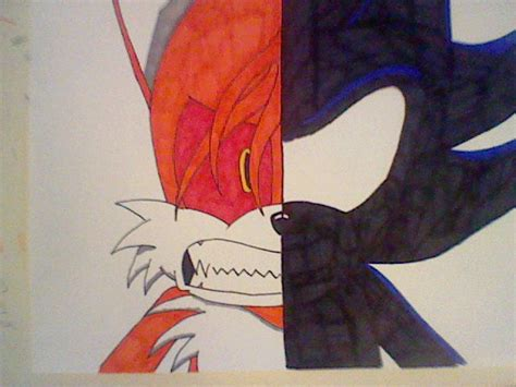 Demon Tails Vs Dark Sonic Colo By Allengutairhero On