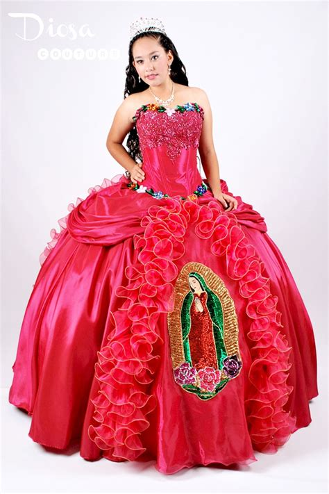 Quinceanera Moda - Virgen de Guadalupe Quince Dress | Like It | Pinterest | Quinceanera and ...