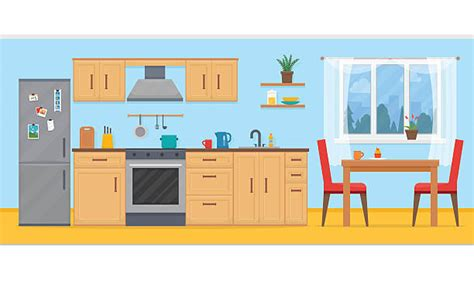 72 dining table kitchen clip vector images illustrations istock