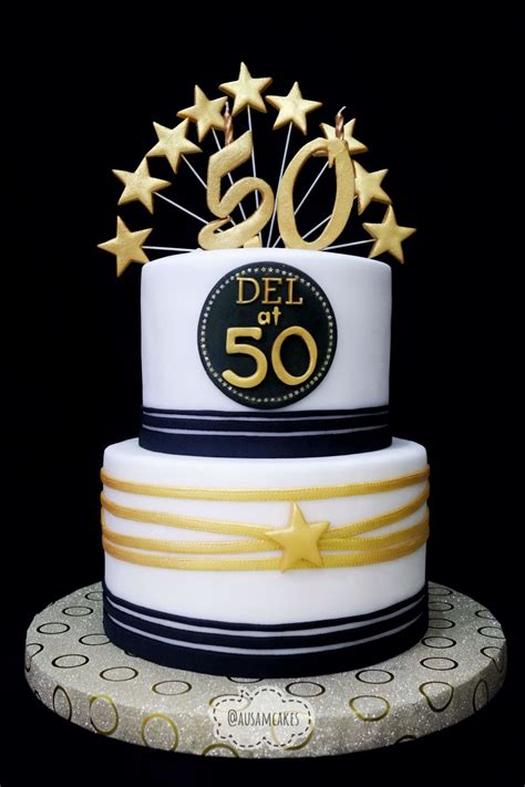 white and gold cake 50th birthday cake gold black white ausam cakes 1294