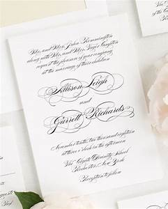 Elegant Script Wedding Invitations Wedding Invitations