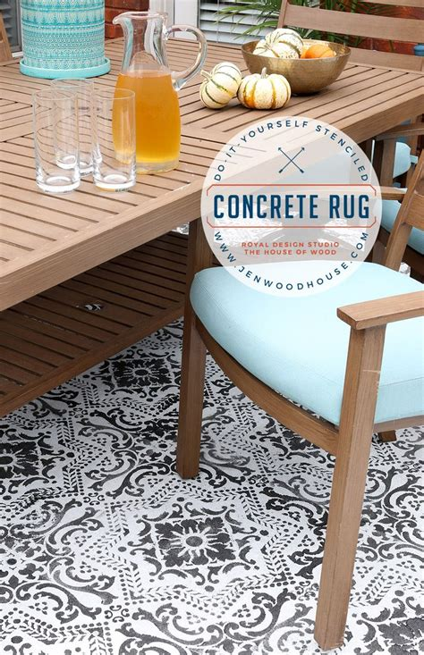 1000 ideas about stencil rug on paint rug