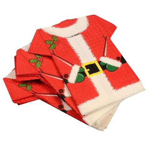 pack of 12 novelty christmas santa t shirt paper napkins