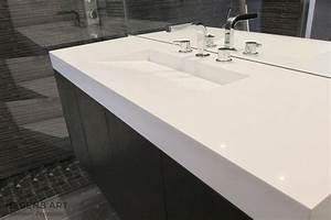 vasque salle de bain design et meuble en chene teinte With salle de bain design avec pose vasque sur meuble