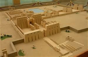 Ancient Egyptian Temple Model