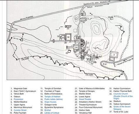 ancient ephesus map 01 luxury turkey tours and private