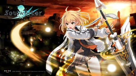 Blade And Soul Wallpaper Soul Worker Test 02 Youtube