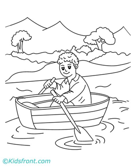 Row Boat Coloring Page by Row Your Boat Colouring Pages