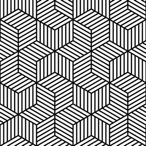 Cool Black And White Geometric Design