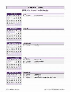 school calendar template 2018 2019 school year calendar With calendar of events template word