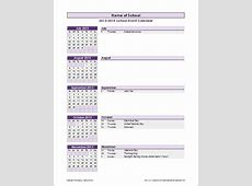 School Calendar Template 20162017 School Year Calendar