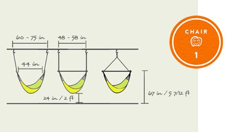 Standard Hammock Dimensions by Hanging Chair Hammock Size Dimensions For Yellow Leaf